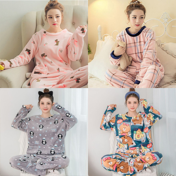 수면잠옷세트/밍크/극세사/여성/겨울/여자/커플/짱구 상품이미지