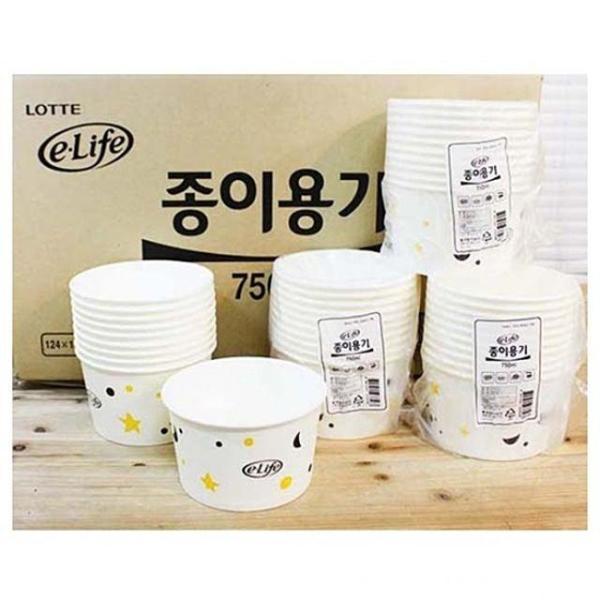 이라이프종이용기750 박스(320개) 종이용기 일회용 상품이미지
