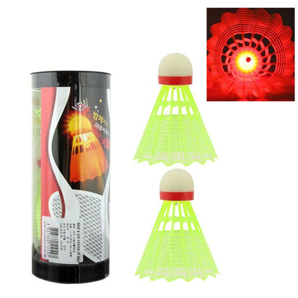 셔틀콕 바코 LED 나일론 셔틀콕 2입 국산 배드민턴 상품이미지