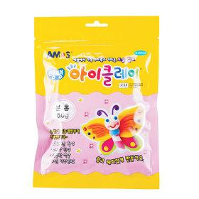 탱탱 아이클레이 분홍 50g/ 칼라 점토 가벼운 요술점토
