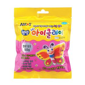 탱탱 아이클레이 형광핑크 50g/ 칼라 점토 요술점토