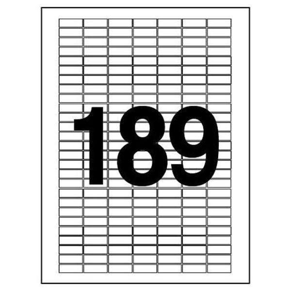 문구사무/분류표기용 라벨(LQ-3189/20매/189칸/폼텍 상품이미지