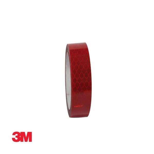 3M 프리즘형 고휘도 반사테이프 24mm x 2.5M 적색 상품이미지