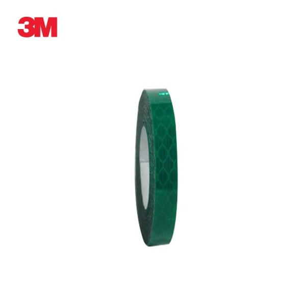 3M 프리즘형 고휘도 반사테이프 10mm x 2.5M 녹색 상품이미지