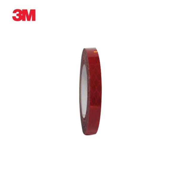 3M 프리즘형 고휘도 반사테이프 10mm x 2.5M 적색 상품이미지