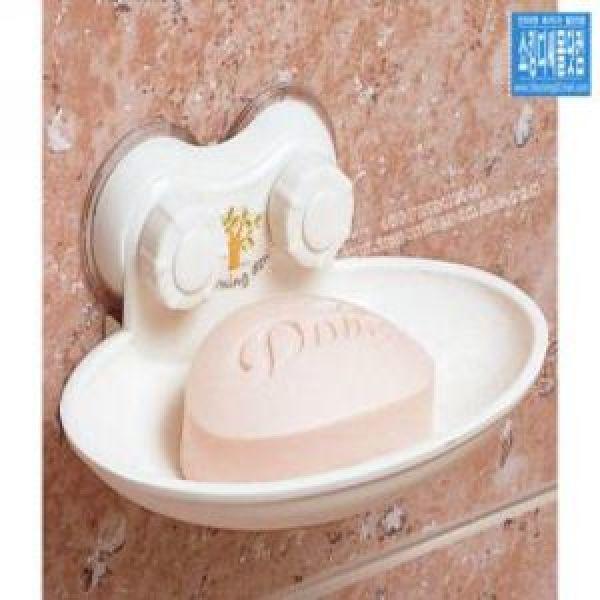 창신 모닝듀 강력흡착 한칸 두칸 비누곽 (부착식 비누받침대 세수비누 비누대 비누곽 비누케이스 욕실소품) 상품이미지