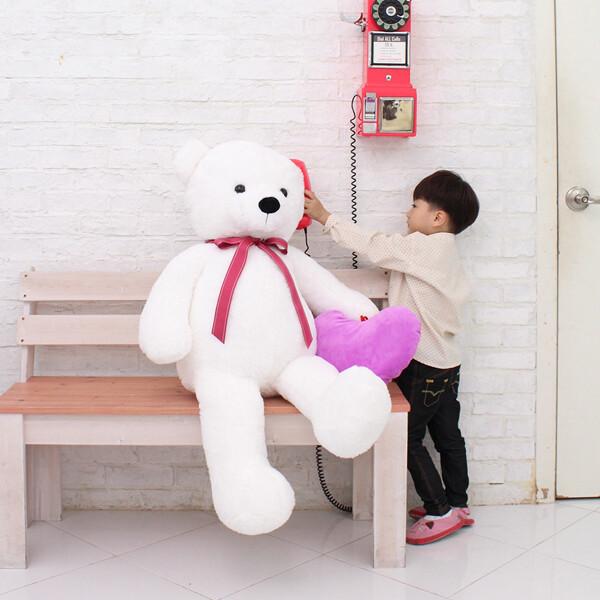 2021 인기선물_140cm 큰곰인형+하트쿠션 상품이미지