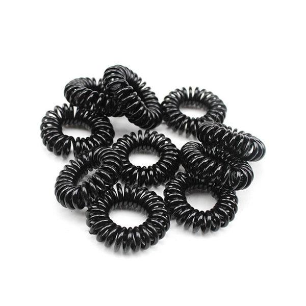 스프링 머리끈(소) 블랙 30개 헤어밴드 헤어슈슈 상품이미지