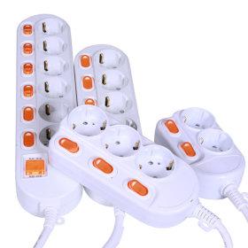 국산 안전접지 3구 1.5m 개별절전형 멀티탭 외 8종