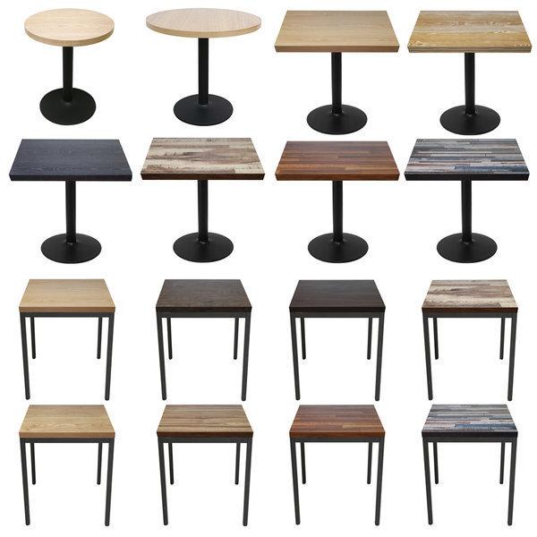 티테이블 기획전 카페/커피숍/원탁/사각/원형/2인식탁 상품이미지