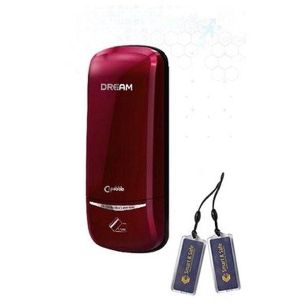 디지털도어락 번호키 드림 DR-200레드 열쇠 카드키2개 상품이미지