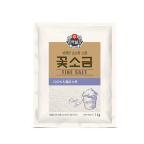 백설 꽃소금1kg/소금/꽃소금/백설소금/천일염