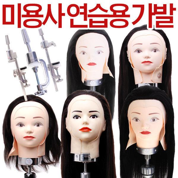 천혜사 레지나 연습모 국가고시용 가발 미용사 마네킹 상품이미지