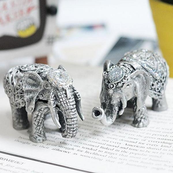 J813 코끼리 주석 장식소품 상품이미지