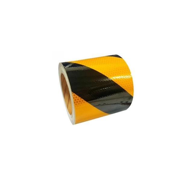 벌집무늬 반사 테이프 사선 황흑색 75mm x 10M/반사 상품이미지