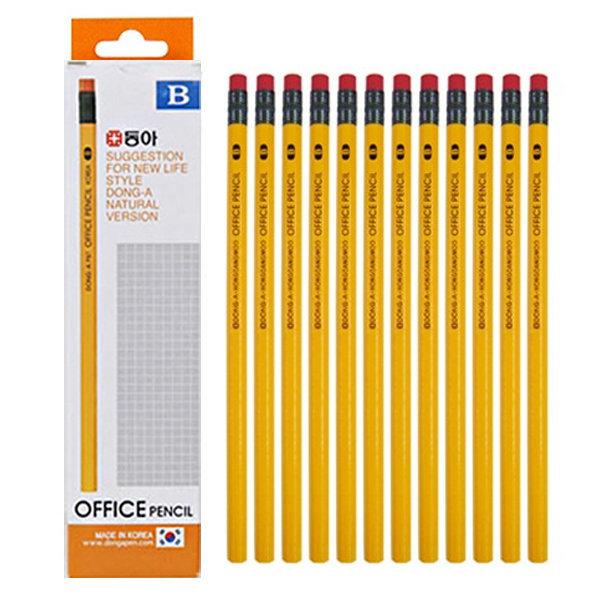 동아 오피스 지우개 연필 12본 B 상품이미지