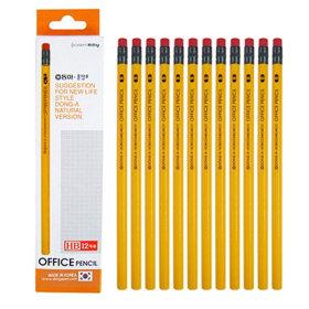 동아 오피스 지우개 연필 12본 HB