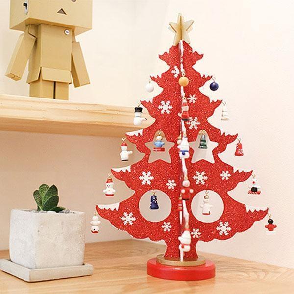 목각 크리스마스 트리 36cm 상품이미지