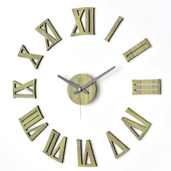 매력적인 유럽풍 인테리어벽시계 못없이 붙이는 DIY벽시계 로만 그린우드 상품이미지