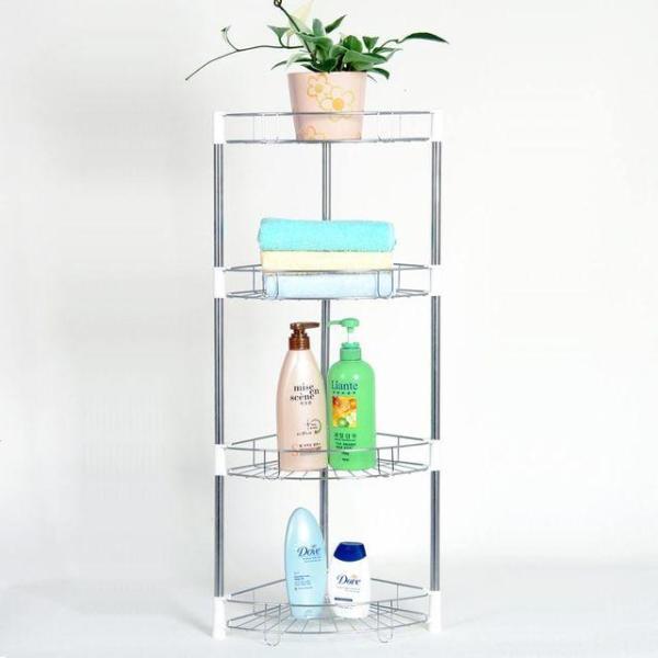 조립식 욕실 코너선반 4단 수납장 진열대 EA003 상품이미지