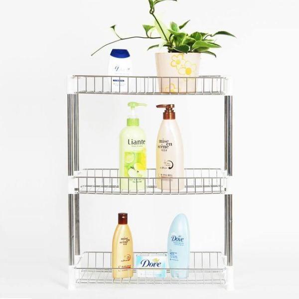 조립식 욕실 사각선반 3단 수납장 진열대 EA005 상품이미지