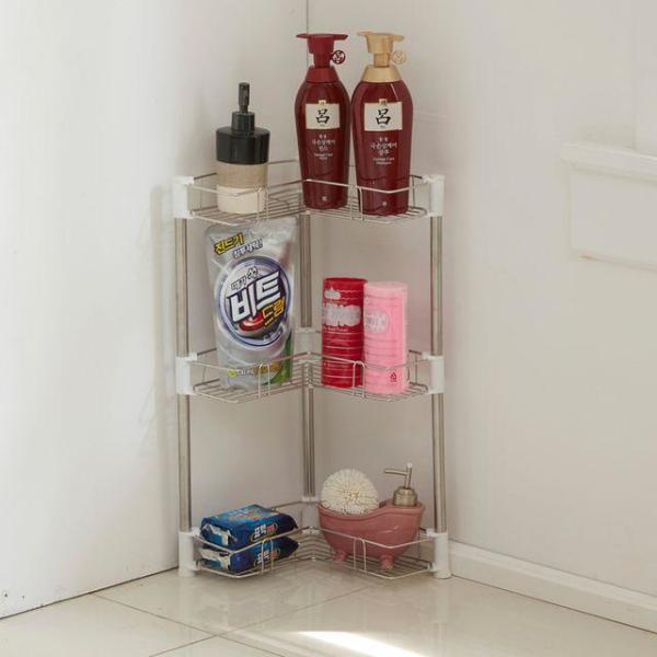 조립식 욕실 샴푸렉선반 3단 수납장 진열대 EA008 상품이미지