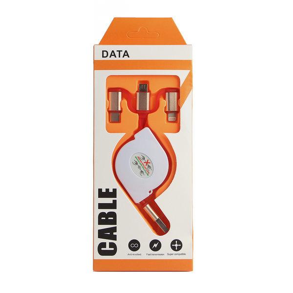 CM 3in1 릴타입 충전 케이블 휴대폰 고속충전기 상품이미지