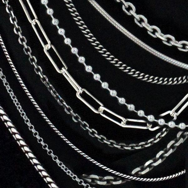 은목걸이3/순은 남자 코인 커플 실버 은 십자가 체인 상품이미지