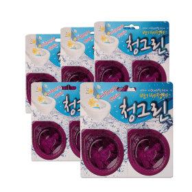 국산 변기 세정제 방향제 청그린 해피향 2입 5개