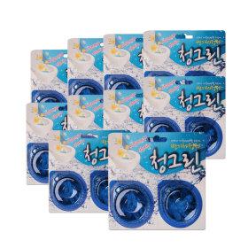 국산 변기 세정제 방향제 청그린 2입 10개