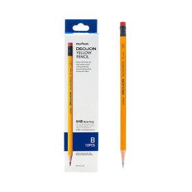 문화 더존 옐로우 지우개 연필 1타 B