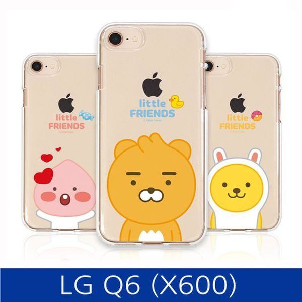 LG Q6. 카카오 프렌즈 투명 젤리 폰케이스 X600 cas 상품이미지