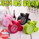 자전거모양 소품 예쁜시계 탁상시계 알람시계 핑크