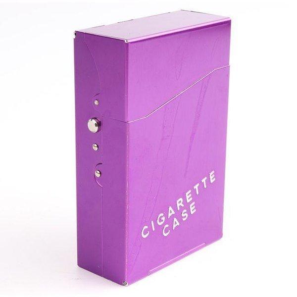 알루미늄 메탈담배케이스 HD-7708 보라색 상품이미지