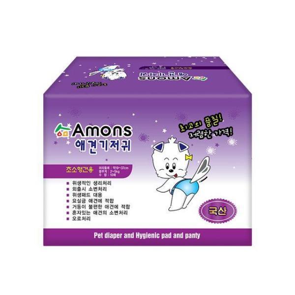 아몬스 암컷용 초소형 강아지기저귀 생리팬티 10매 상품이미지