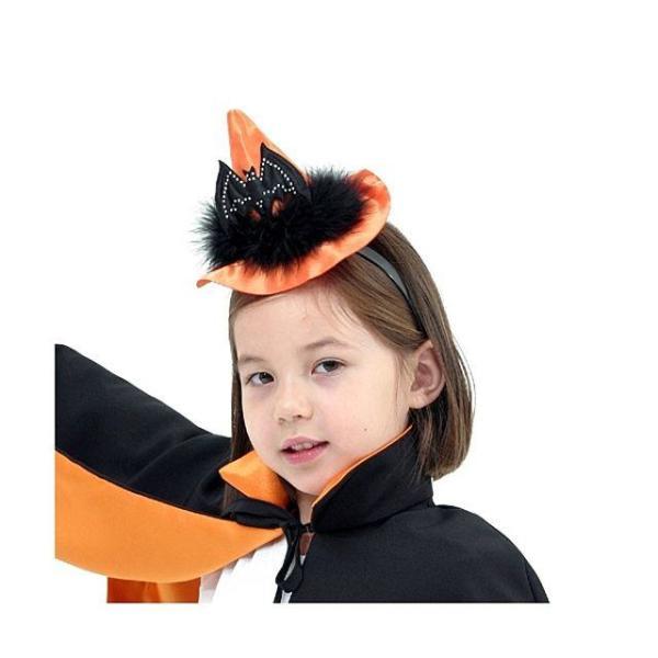 오렌지 벳 마녀 모자 머리띠  할로윈 파티 클럽 용 상품이미지