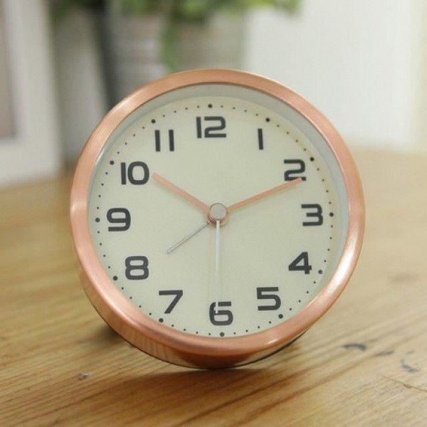 클래식 원형 알람 탁상시계(핑크골드) 상품이미지