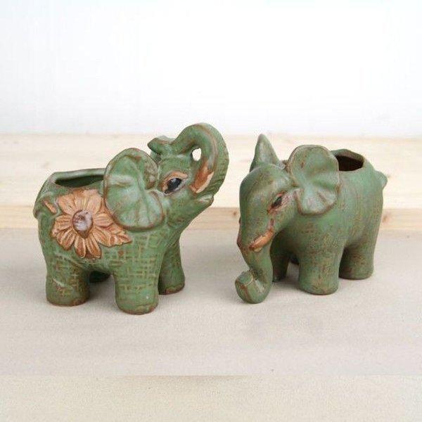 연두 코끼리 한쌍 미니화분/다육화분 상품이미지