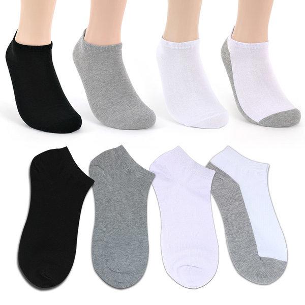 남자 여자 무지 발목양말 10켤레 작업용 학생용 상품이미지
