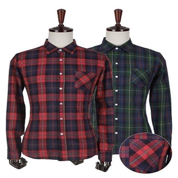 체크 패턴 셔츠 남성셔츠 포인트셔츠 체크셔츠 상품이미지