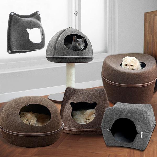 펫디아 고양이 숨숨집 하우스 고양이집 강아지집 보온 상품이미지