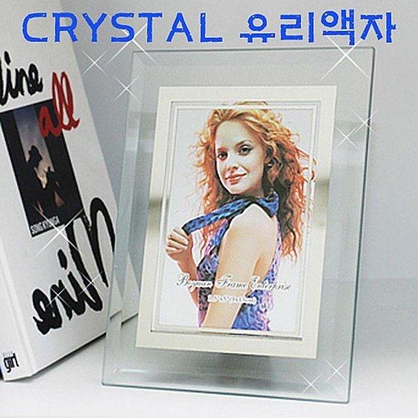 크리스탈 유리액자 5R(48개) 사진 탁상용액자 인테 상품이미지