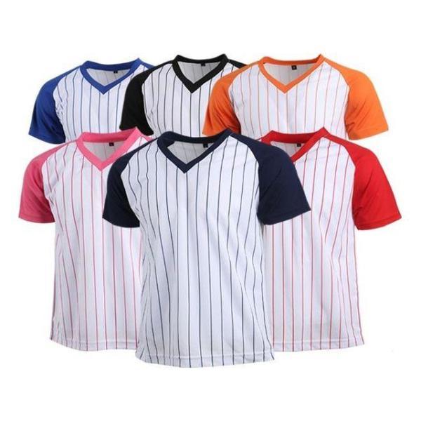 (티셔츠(쿨론티))야구V넥 반팔 상품이미지