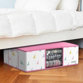 디자인 이불정리함 1개(핑크)+이불압축팩  / 65L