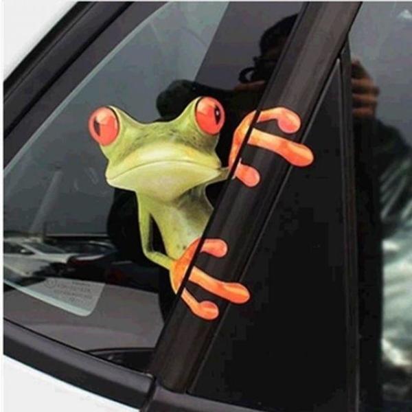 차량용 개구리 포인트 스티커 상품이미지