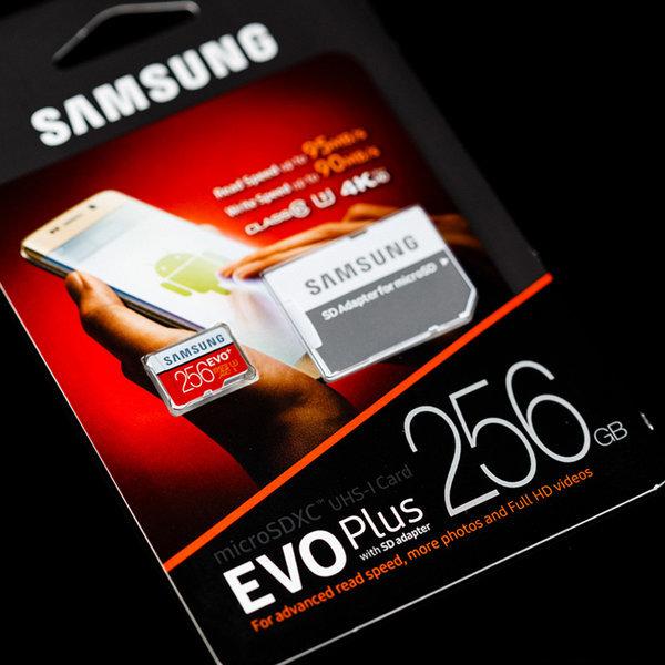 삼성전자 MicroSDXC CLASS10 UHS-I U3 EVO Plus 256GB 상품이미지