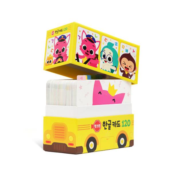 핑크퐁 한글카드 120 (낱말카드) 핑크퐁과 익히는 첫 낱말 상품이미지