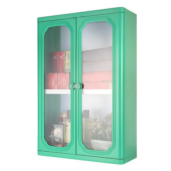엑센트 D600/욕실장/욕실용품/욕실수납장/ 그린색상 상품이미지