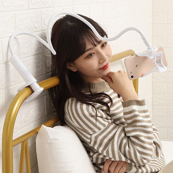 OMT OSA-JAB13 핸드폰 자바라거치대 침대 거치대 블랙 상품이미지