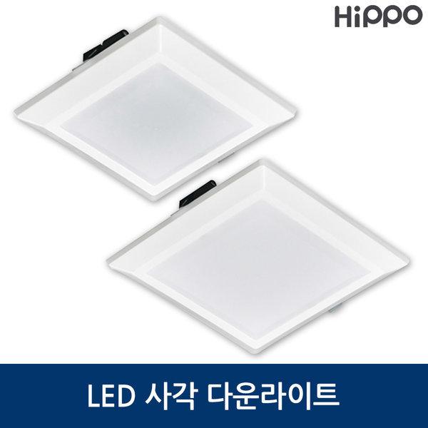히포 LED 사각 다운라이트 4 6 인치 상품이미지